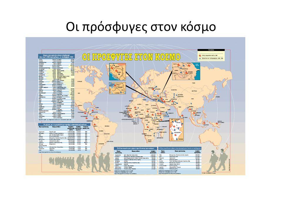 Η εγκατάσταση των μεταναστών κατά περιφέρεια.