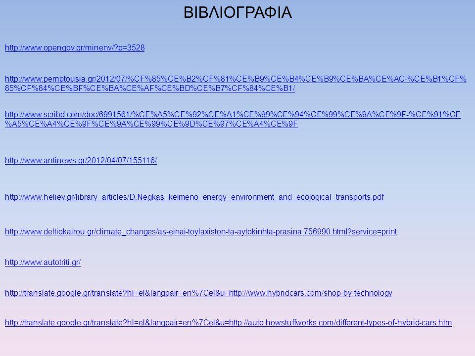 ΒΙΒΛΙΟΓΡΑΦΙΑ http://www.opengov.gr/minenv/?p=3528 http://www.pemptousia.gr/2012/07/%CF%85%CE%B2%CF%81%CE%B9%CE%B4%CE%B9%CE%BA%CE%AC-%CE%B1%CF% 85%CF%8