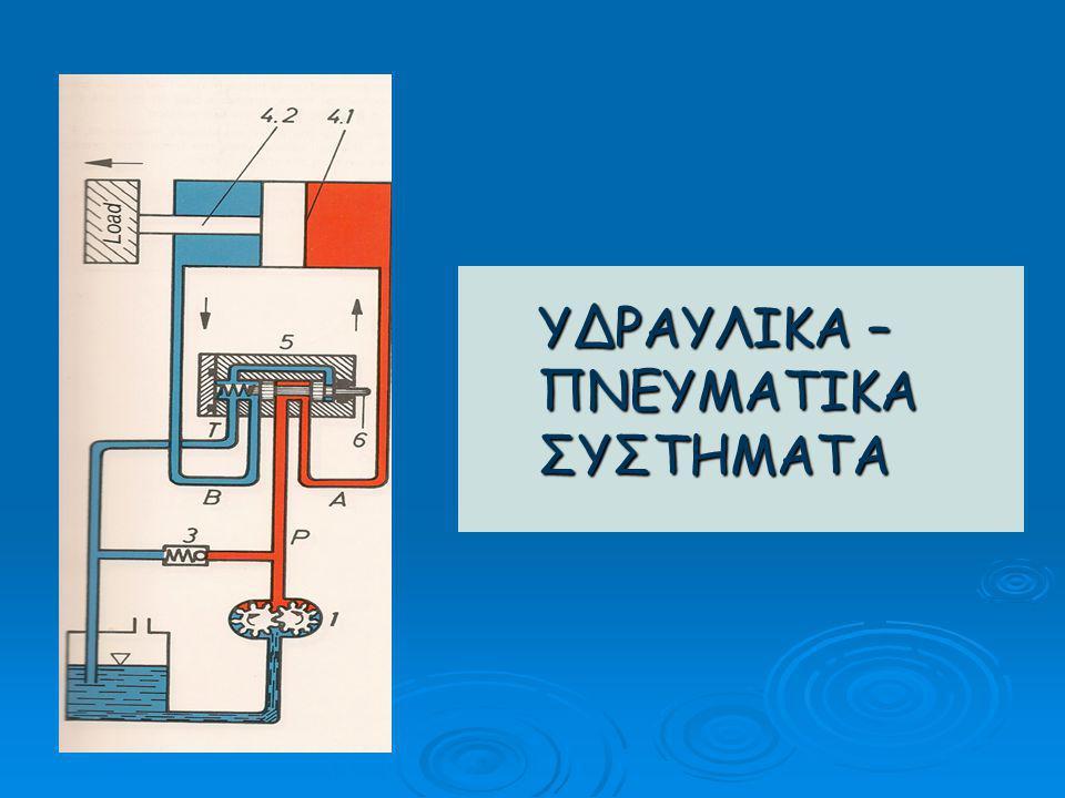 Εφαρμογή ΥΣΕ Τηλεσκοπικό ανυψωτικό μηχάνημα μεταφοράς, τακτοποίησης φορτίων σε μεγάλα ύψη  Στο πετρελαιοκίνητο αυτό μηχάνημα η υδραυλική διάταξη αποτελείται από την κεντρική υδραυλική αντλία που διοχετεύει λάδι κάτω από πίεση στο σύστημα διεύθυνσης, πέδησης, κύλισης, μετάδοσης κίνησης κτλ.