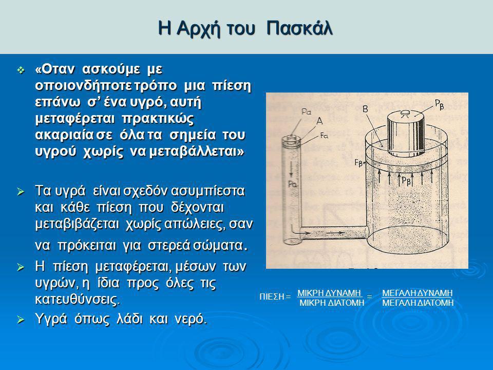 Αναφορά βασικών πνευματικών υδραυλικών εξαρτημάτων – Κύλινδροι Αναφορά βασικών πνευματικών υδραυλικών εξαρτημάτων – Κύλινδροι  Οι κύλινδροι μετατρέπουν την ενέργεια της πίεσης του ρευστού (λάδι) ή και αέρα σε μηχανική ενέργεια.