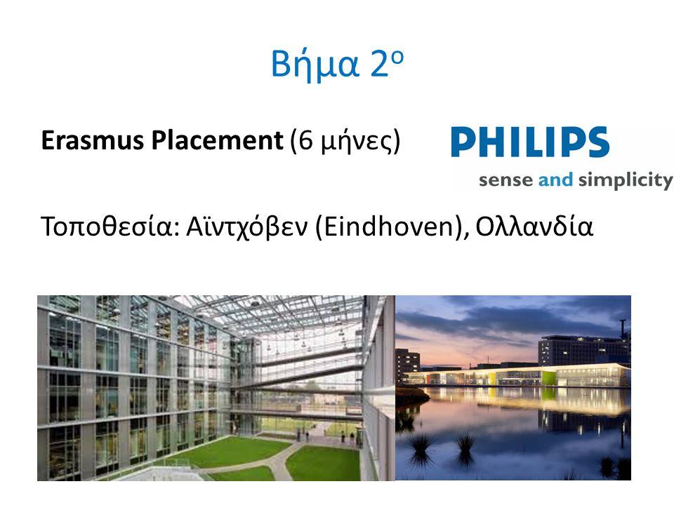 Βήμα 2 ο Erasmus Placement (6 μήνες) Τοποθεσία: Αϊντχόβεν (Eindhoven), Ολλανδία