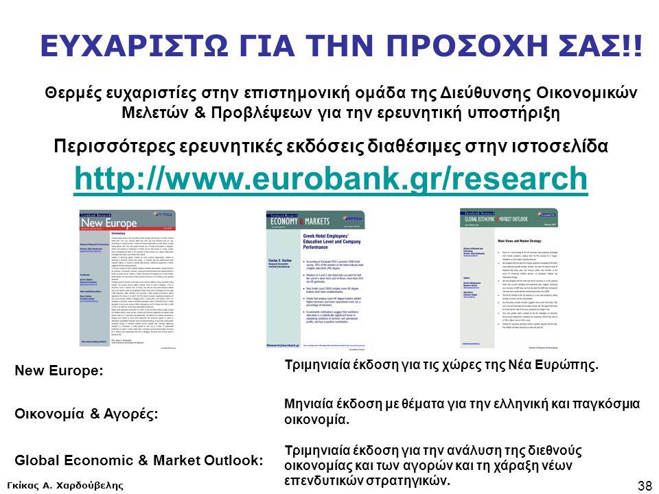 Γκίκας Α. Χαρδούβελης 38 Περισσότερες ερευνητικές εκδόσεις διαθέσιμες στην ιστοσελίδα http://www.eurobank.gr/research http://www.eurobank.gr/research