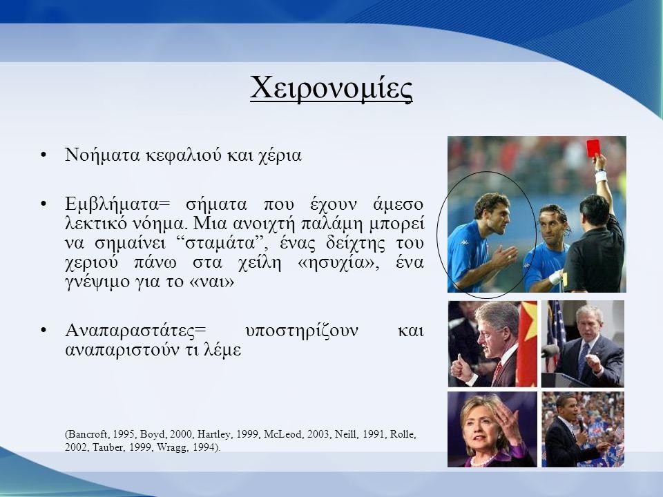 Δυναμική έκφραση προσώπου •Χρησιμοποιούμε τη δυναμική έκφραση του προσώπου συνέχεια για να βελτιώνουμε την επικοινωνία μας ακόμη και σε κάποιες περιπτώσεις γραπτής έκφρασης (sms, MSN).