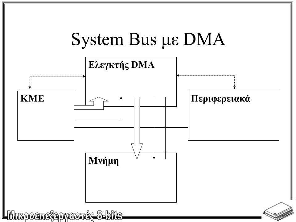 System Bus με DMA ΚΜΕ Ελεγκτής DMA Μνήμη Περιφερειακά