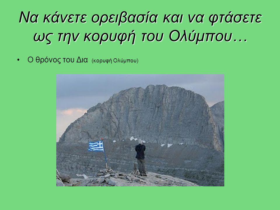 Να κάνετε ορειβασία και να φτάσετε ως την κορυφή του Ολύμπου… •Ο θρόνος του Δια (κορυφή Ολύμπου)
