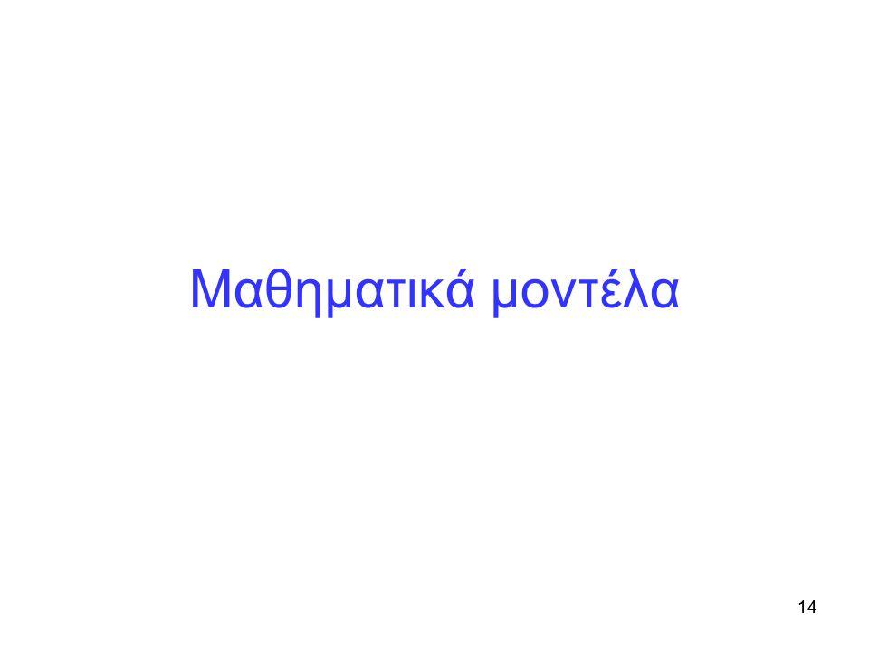 Μαθηματικά μοντέλα 14