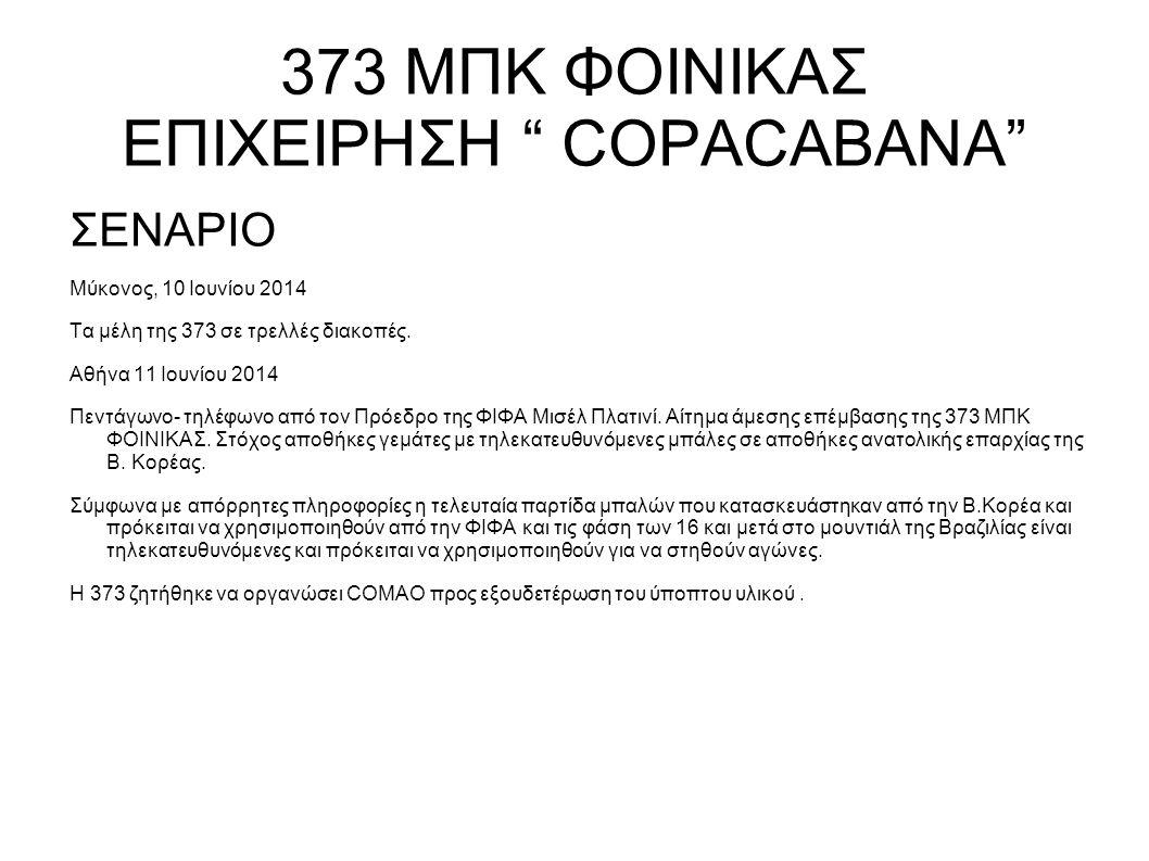 """373 ΜΠΚ ΦΟΙΝΙΚΑΣ ΕΠΙΧΕΙΡΗΣΗ """" COPACABANA"""""""