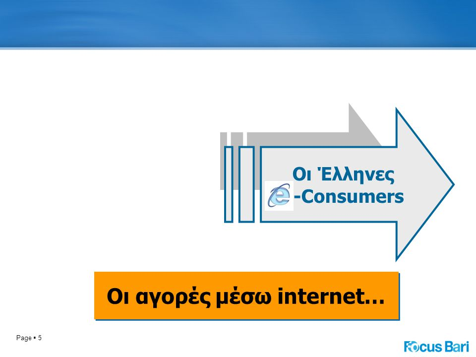 Page  5 Οι Έλληνες -Consumers Οι αγορές μέσω internet…