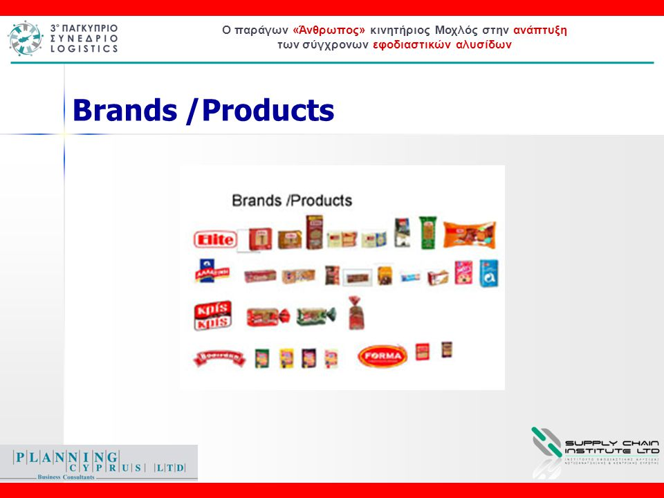 Ο παράγων «Άνθρωπος» κινητήριος Μοχλός στην ανάπτυξη των σύγχρονων εφοδιαστικών αλυσίδων Brands /Products