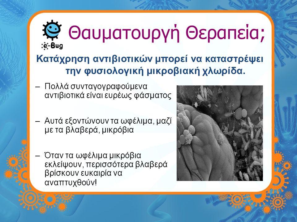 Θαυματουργή Θεραπεία; Ανθεκτικότητα στα Αντιβιοτικά –Πολλά βακτήρια έχουν αναπτύξει την ικανότητα να είναι ανθεκτικά στα αντιβιοτικά.