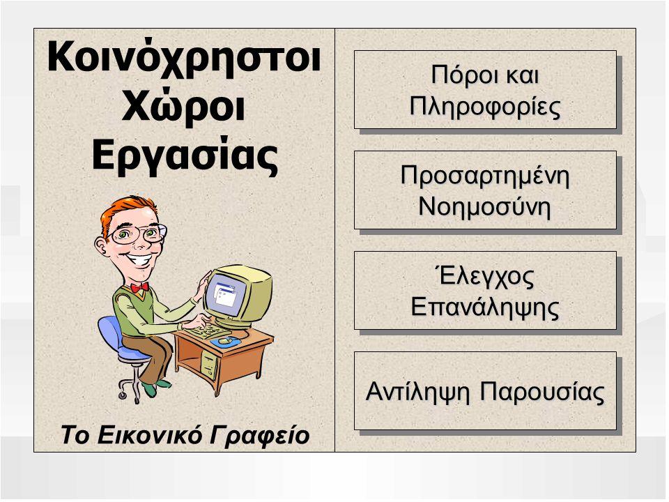 Κοινόχρηστοι Χώροι Εργασίας Το Εικονικό Γραφείο Πόροι και Πληροφορίες Πληροφορίες ΠροσαρτημένηΝοημοσύνηΠροσαρτημένηΝοημοσύνη ΈλεγχοςΕπανάληψηςΈλεγχοςΕ