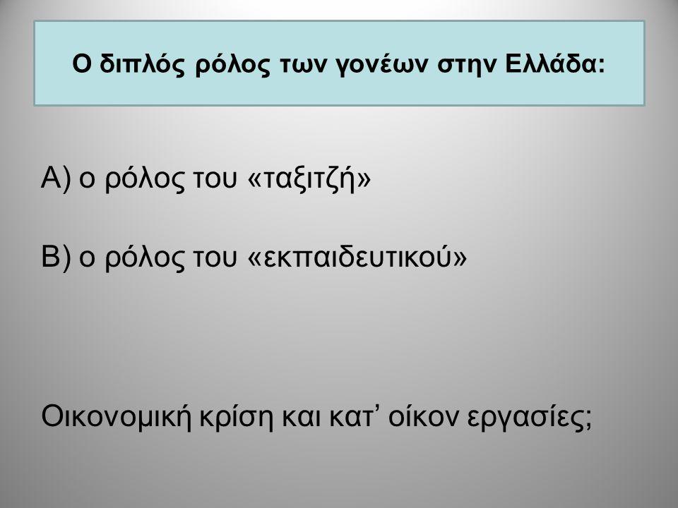 (Χανιωτάκης & Θωίδης 2007, 2008, 2009) (Χανιωτάκης & Θωίδης 2007, 2008, 2009) Οι σχολικές εργασίες (κατ' οίκον εργασίες) είναι καλό να γίνονται: