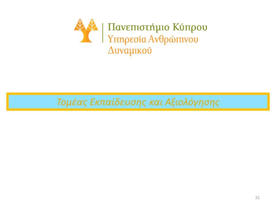32 Τομέας Εκπαίδευσης και Αξιολόγησης