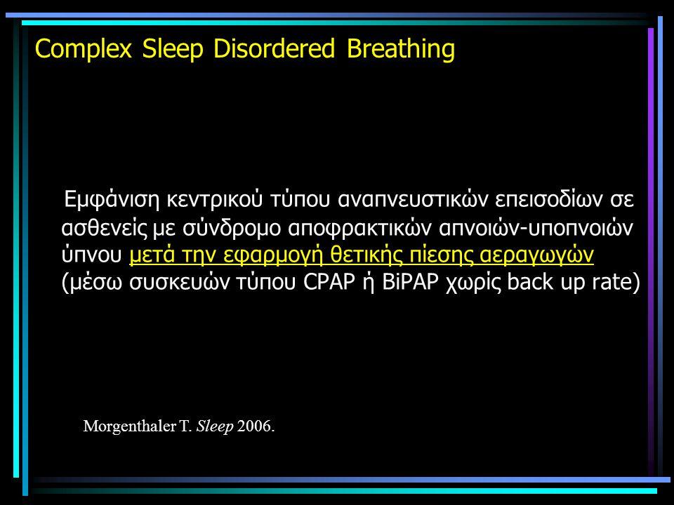 Complex Sleep Disordered Breathing Εμφάνιση κεντρικού τύπου αναπνευστικών επεισοδίων σε ασθενείς με σύνδρομο αποφρακτικών απνοιών-υποπνοιών ύπνου μετά