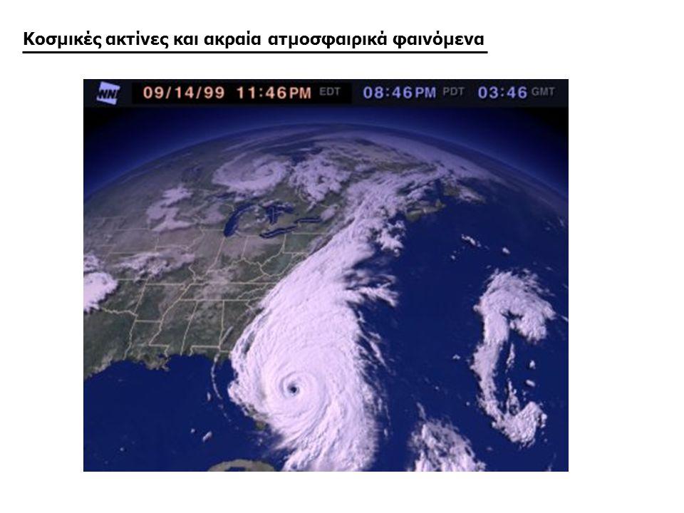 Κοσμικές ακτίνες και ακραία ατμοσφαιρικά φαινόμενα