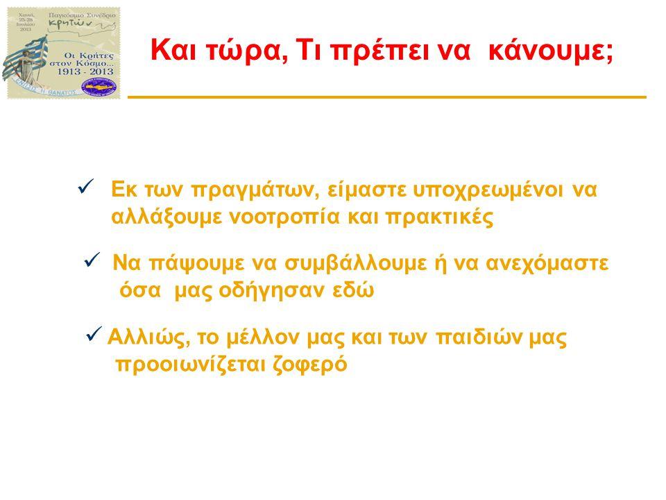 Η Ανταγωνιστικότητα του τουρισμού στην Κρήτη  Απώλεια ανταγωνιστικού πλεονεκτήματος  Μειονεκτούμε στη σχέση αξίας/τιμής  Φθηνότεροι μεσογειακοί προορισμοί στο παραθεριστικό μοντέλο μαζικού τουρισμού