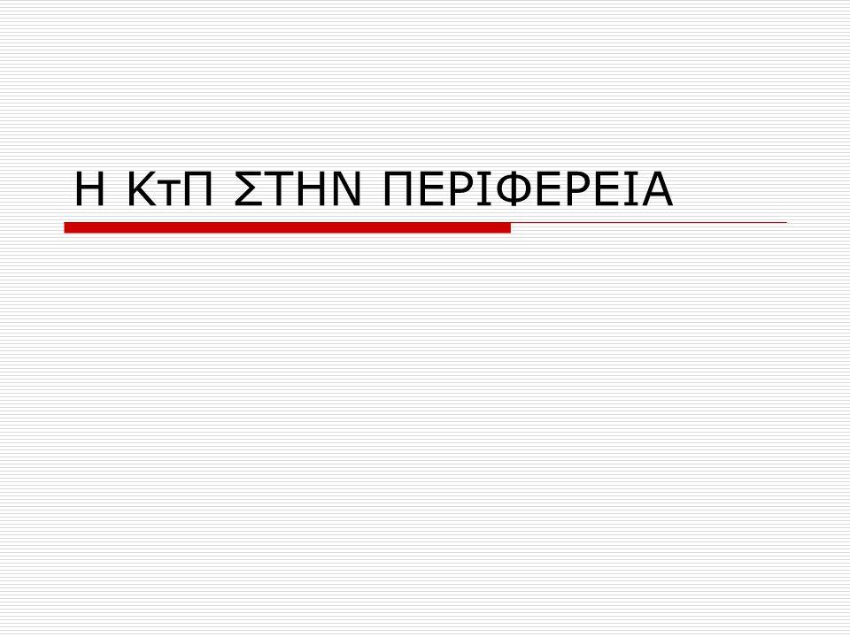 Η ΚτΠ ΣΤΗΝ ΠΕΡΙΦΕΡΕΙΑ