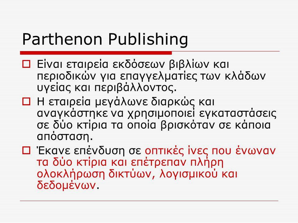 Parthenon Publishing  Είναι εταιρεία εκδόσεων βιβλίων και περιοδικών για επαγγελματίες των κλάδων υγείας και περιβάλλοντος.  Η εταιρεία μεγάλωνε δια