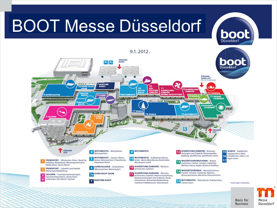 2. Initial situation: BOOT Messe Düsseldorf
