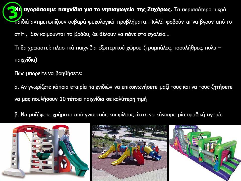 Να αγοράσουμε παιχνίδια για το νηπιαγωγείο της Ζαχάρως. Τα περισσότερα μικρά παιδιά αντιμετωπίζουν σοβαρά ψυχολογικά προβλήματα. Πολλά φοβούνται να βγ