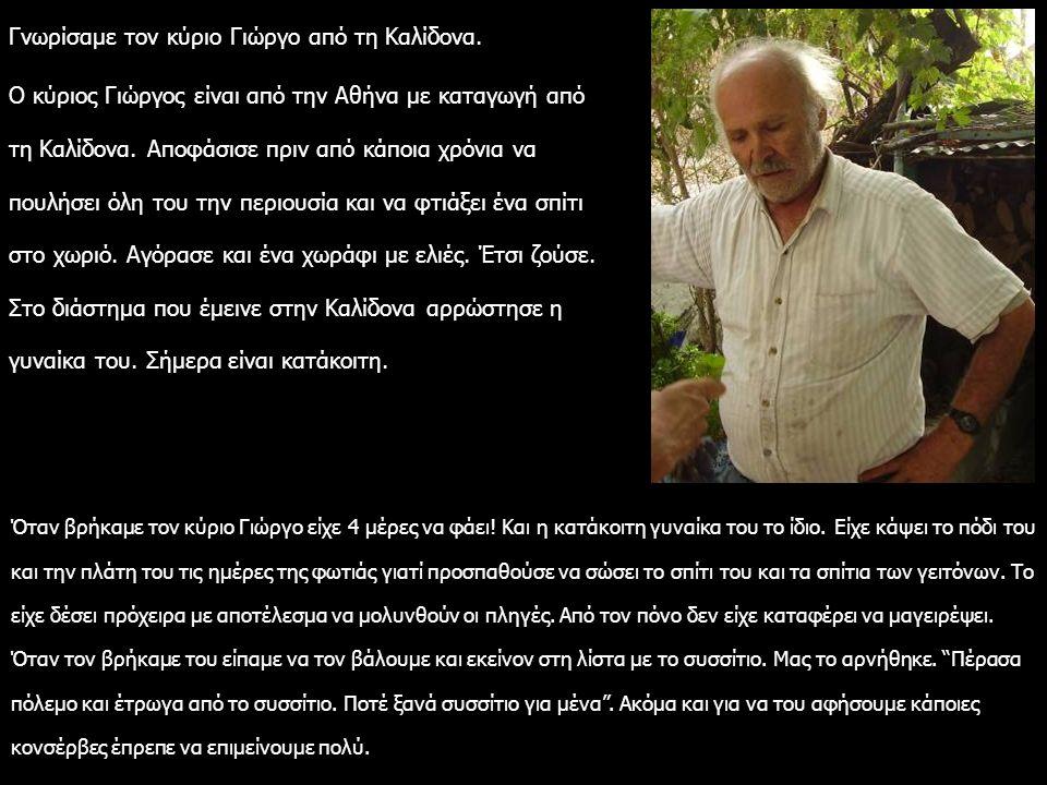 Γνωρίσαμε τον κύριο Γιώργο από τη Καλίδονα. Ο κύριος Γιώργος είναι από την Αθήνα με καταγωγή από τη Καλίδονα. Αποφάσισε πριν από κάποια χρόνια να πουλ