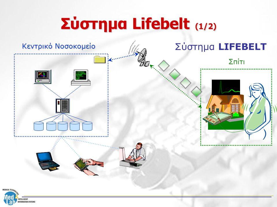 Σύστημα Lifebelt (1/2) Σπίτι Κεντρικό Νοσοκομείο Σύστημα LIFEBELT
