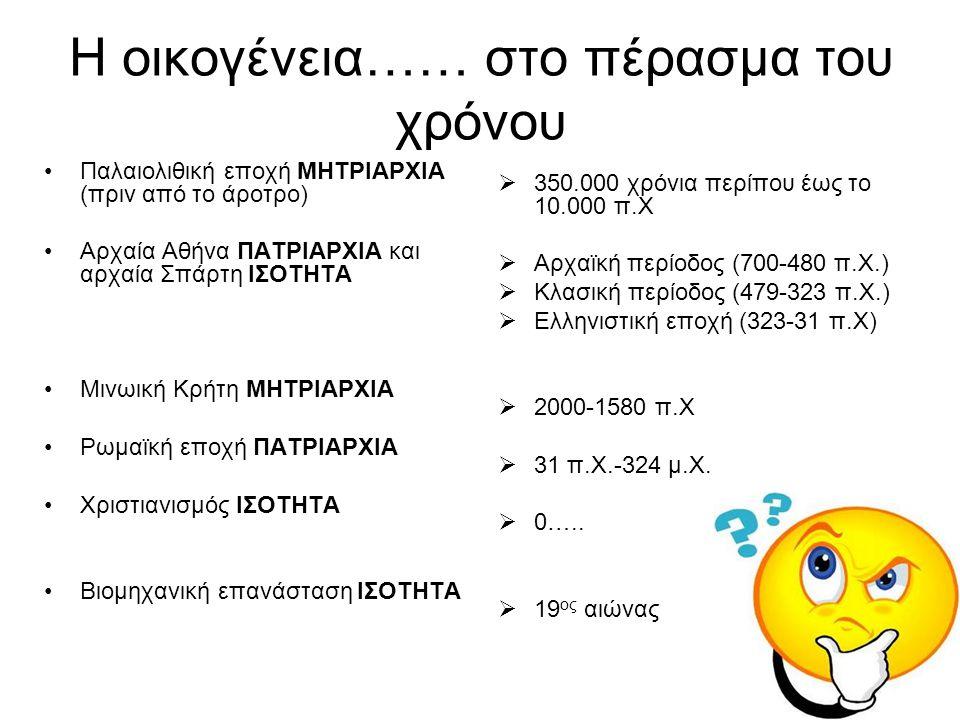4. Πως είναι η ελληνική οικογένεια σήμερα?