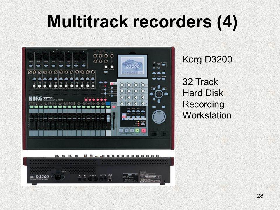 28 Multitrack recorders (4) Korg D3200 32 Track Hard Disk Recording Workstation