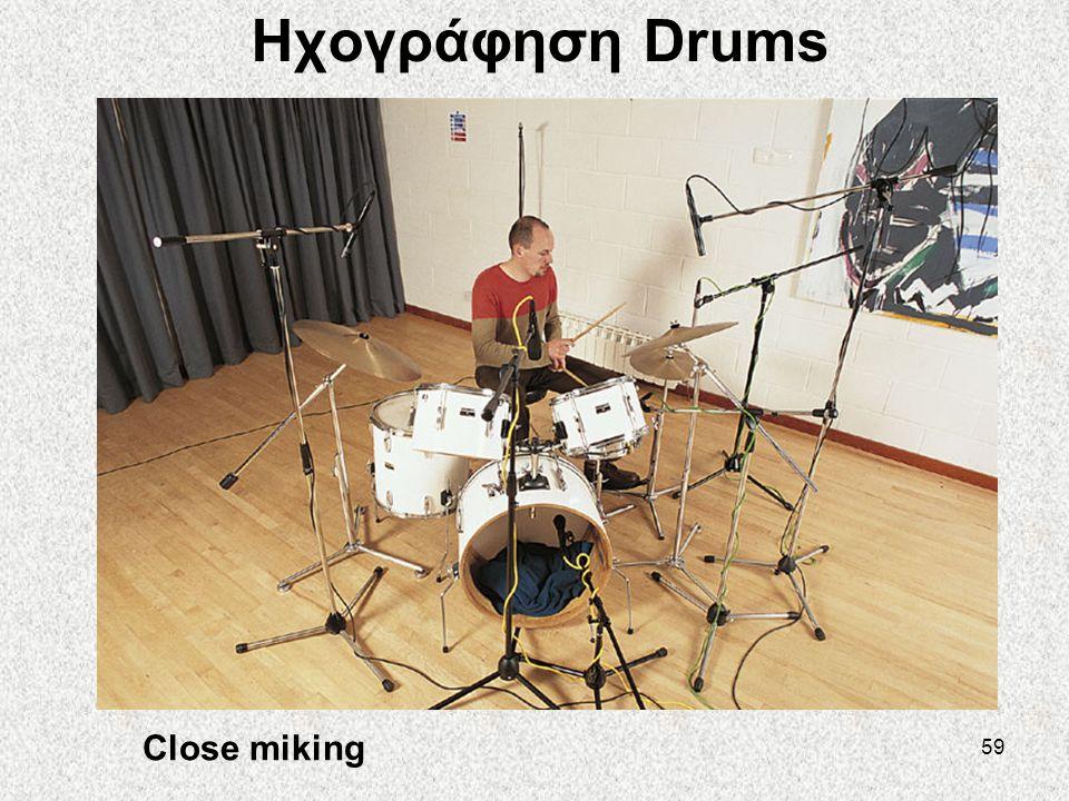 59 Ηχογράφηση Drums Close miking