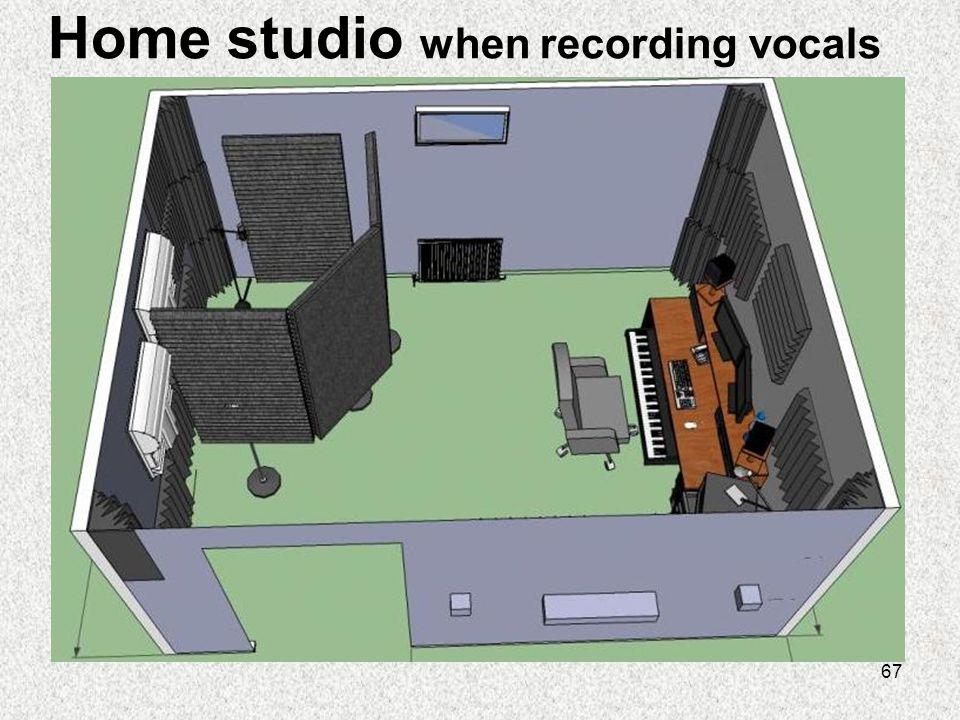 67 Home studio when recording vocals