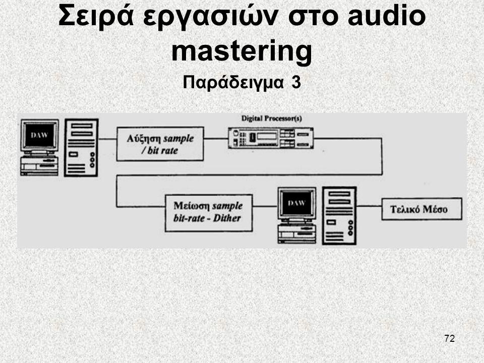 72 Σειρά εργασιών στο audio mastering Παράδειγμα 3