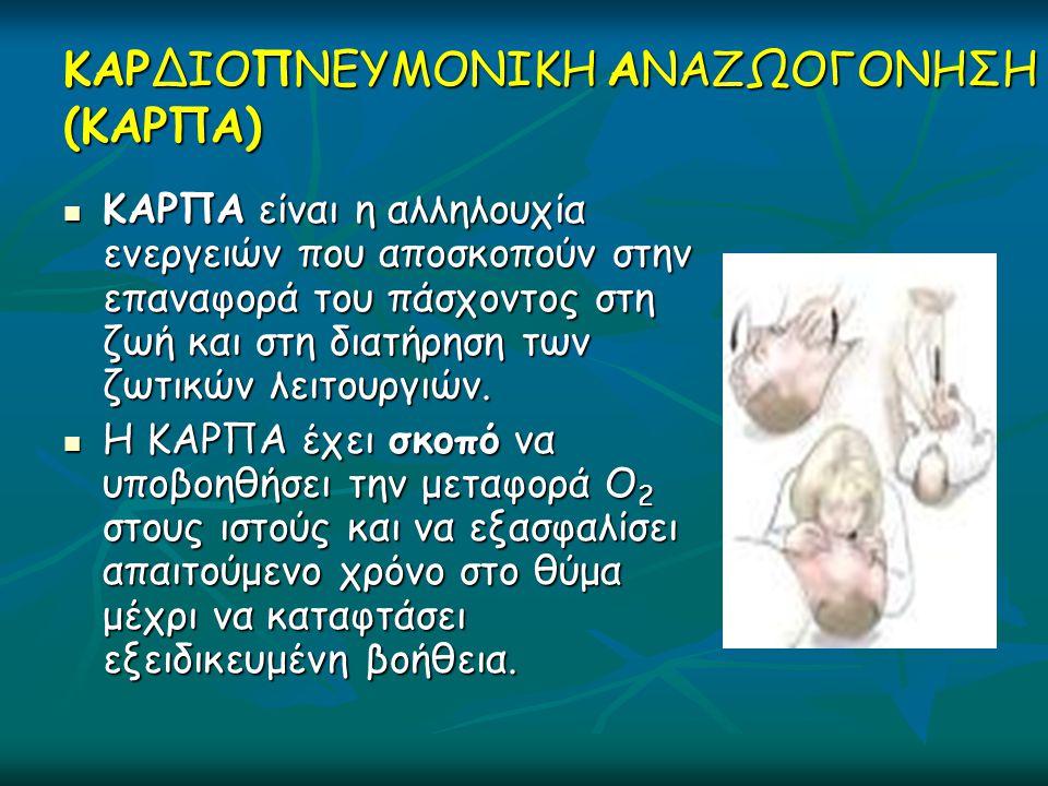 Καλέστε 112 (166/199) Πλησιάστε με ασφάλεια Ελέγξτε αντίδραση Φωνάξτε για βοήθεια Απελευθερώστε αεραγωγό Ελέγξτε για αναπνοή Συνδέστε τον ΑΕΑ Ακολουθήστε τις οδηγίες