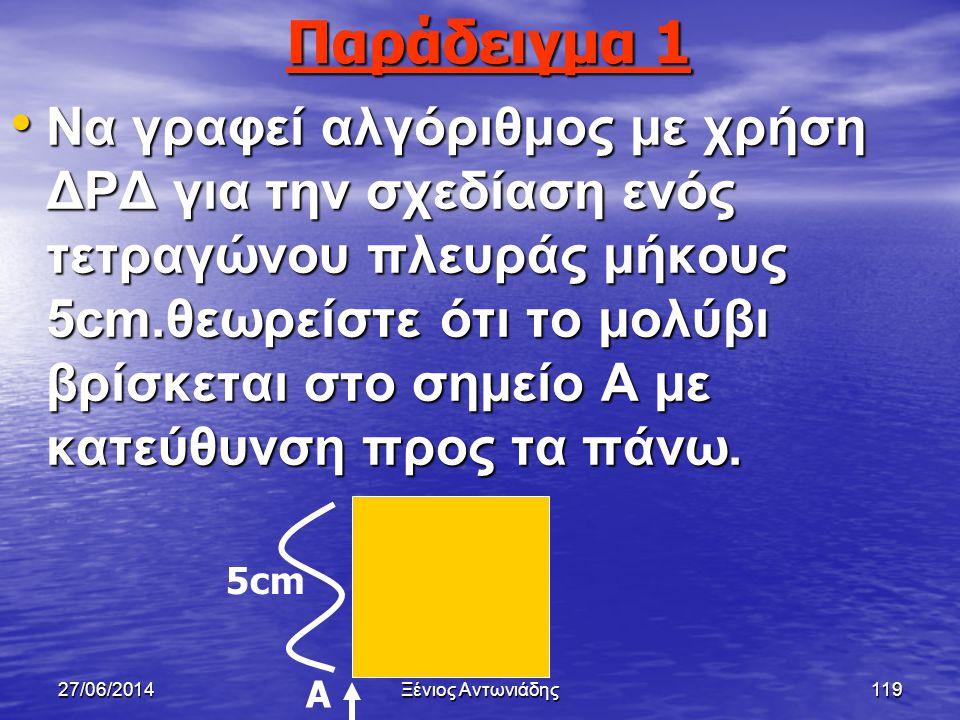 27/06/2014Ξένιος Αντωνιάδης118 Στόχοι μαθήματος • Παράδειγμα 1 (σελ 216) • Παράδειγμα 2 (σελ 216)