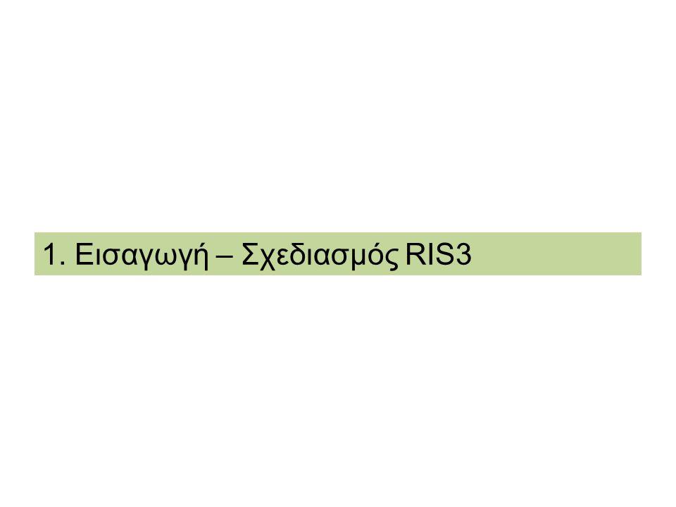 1. Εισαγωγή – Σχεδιασμός RIS3