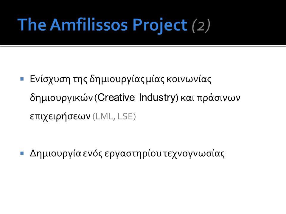 Ενίσχυση της δημιουργίας μίας κοινωνίας δημιουργικών ( Creative Industry ) και πράσινων επιχειρήσεων (LML, LSE)  Δημιουργία ενός εργαστηρίου τεχνογνωσίας
