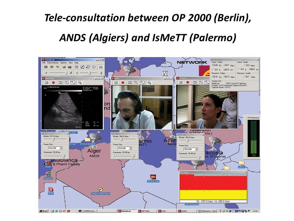 Tele-consultation between OP 2000 (Berlin), ANDS (Algiers) and IsMeTT (Palermo)