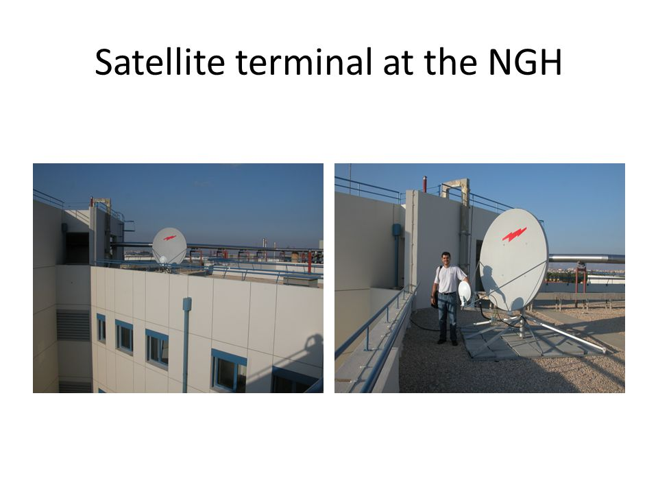 Satellite terminal at the NGH