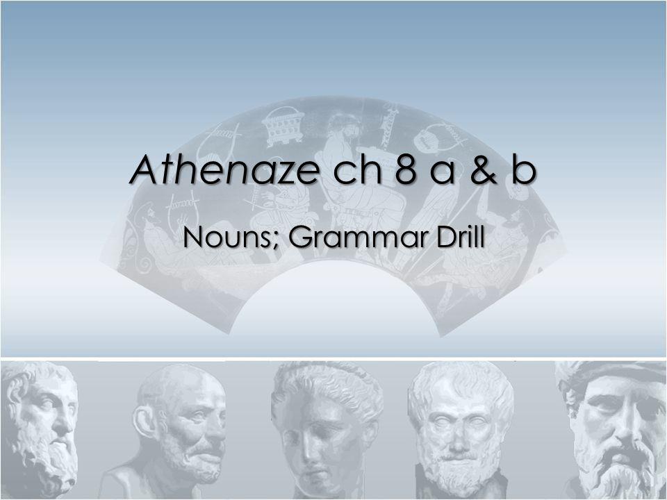 Athenaze ch 8 a & b Nouns; Grammar Drill