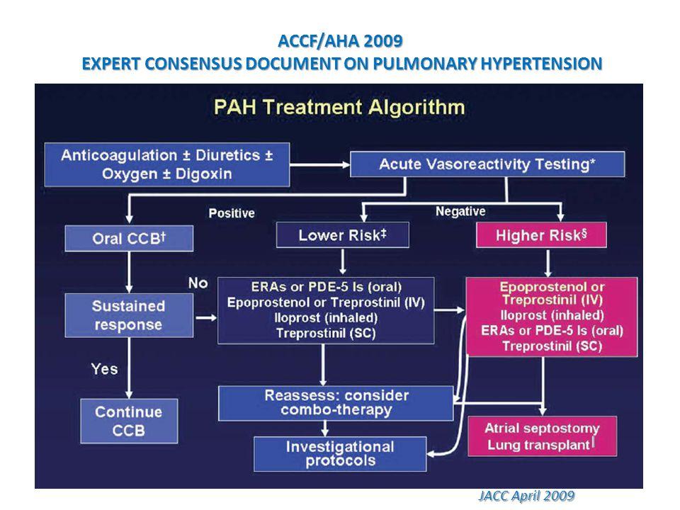 ACCF/AHA 2009 EXPERT CONSENSUS DOCUMENT ON PULMONARY HYPERTENSION JACC April 2009 JACC April 2009