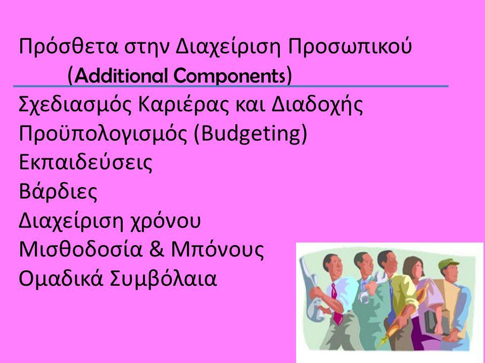 Σχεδιασμός Καριέρας και Διαδοχής ( Career & Succession Planning ) • Σχεδιασμός Προαγωγών • Εντοπισμός εκπαιδευτικών αναγκών προαχθέντων