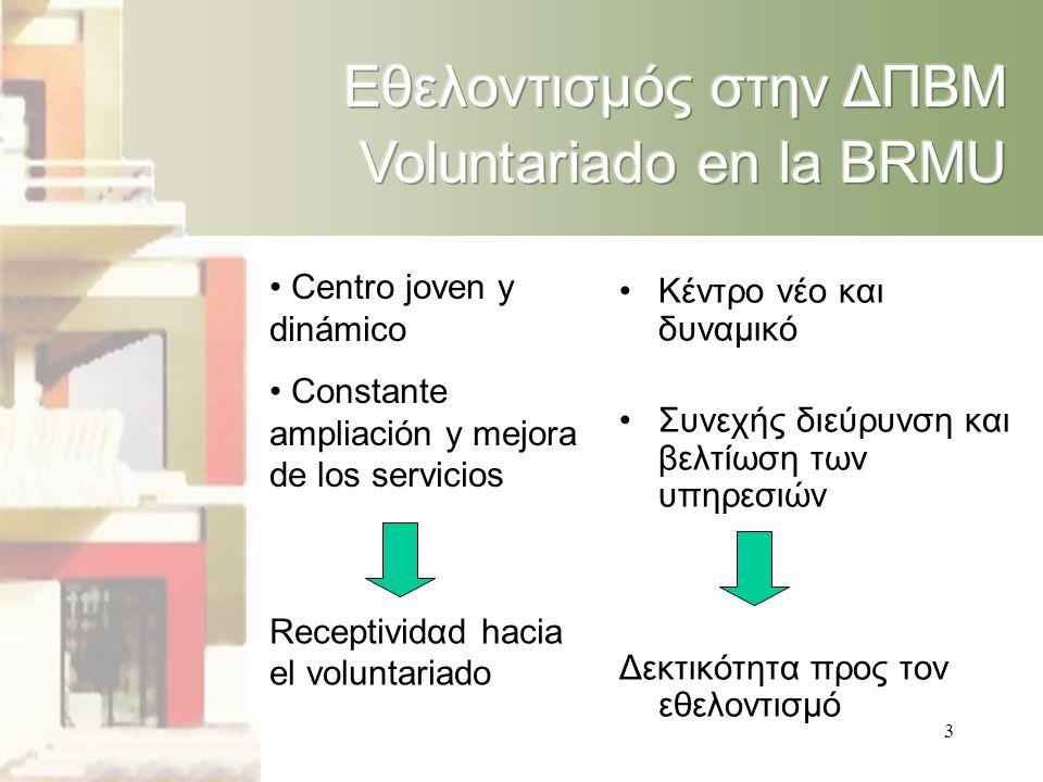 3 • Centro joven y dinámico • Constante ampliación y mejora de los servicios Receptividαd hacia el voluntariado •Κέντρο νέο και δυναμικό •Συνεχής διεύρυνση και βελτίωση των υπηρεσιών Δεκτικότητα προς τον εθελοντισμό