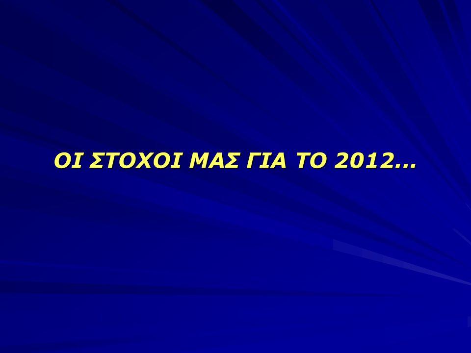 ΟΙ ΣΤΟΧΟΙ ΜΑΣ ΓΙΑ ΤΟ 2012...