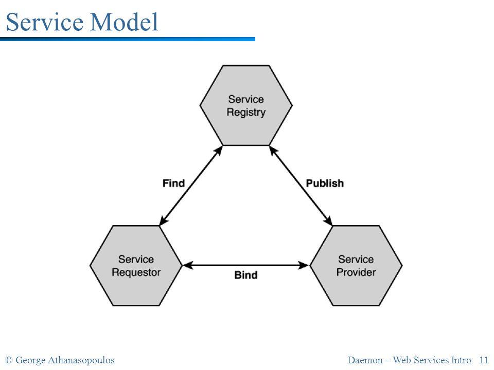 © George AthanasopoulosDaemon – Web Services Intro 11 Service Model