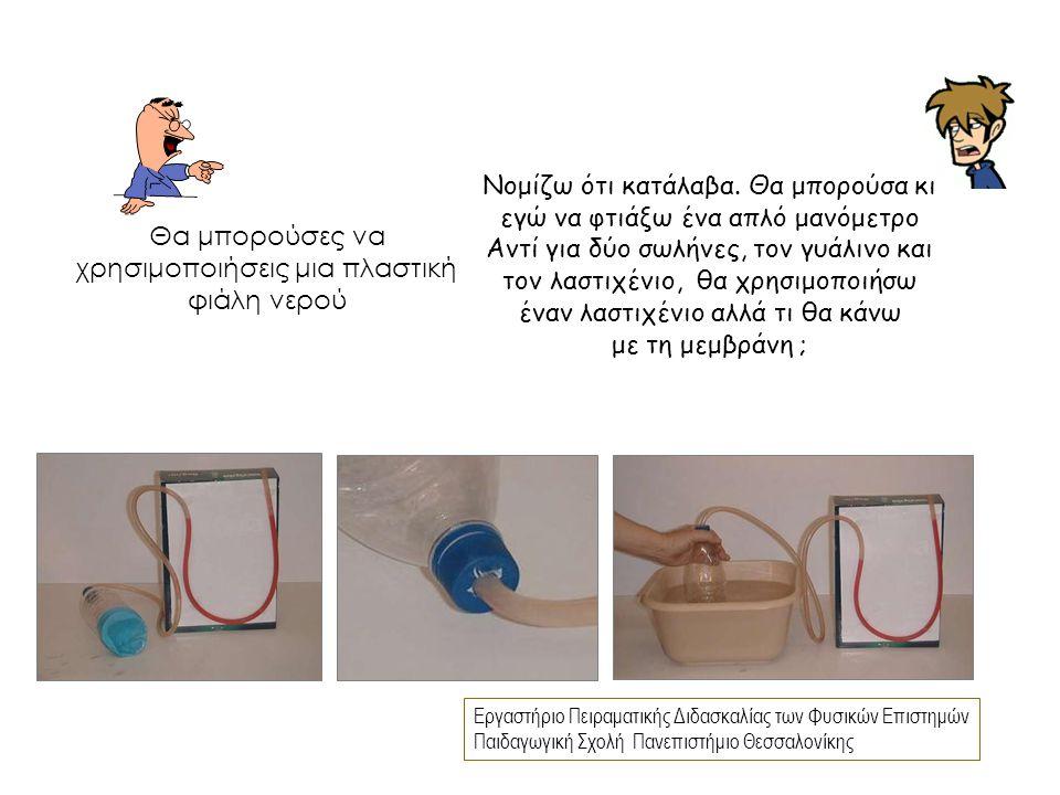 Εργαστήριο Πειραματικής Διδασκαλίας των Φυσικών Επιστημών Παιδαγωγική Σχολή Πανεπιστήμιο Θεσσαλονίκης Νομίζω ότι κατάλαβα. Θα μπορούσα κι εγώ να φτιάξ