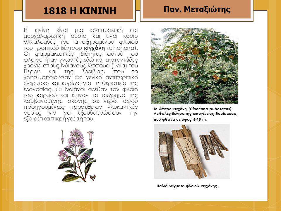 Η κινίνη είναι μια αντιπυρετική και μυοχαλαρωτική ουσία και είναι κύριο αλκαλοειδές του αποξηραμένου φλοιού του τροπικού δέντρου κιγχόνη (cinchona).