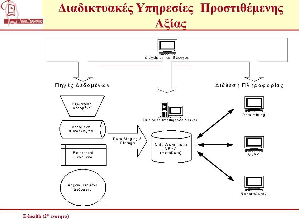 Διαδικτυακές Υπηρεσίες Προστιθέμενης Αξίας E-health (2 Η ενότητα)