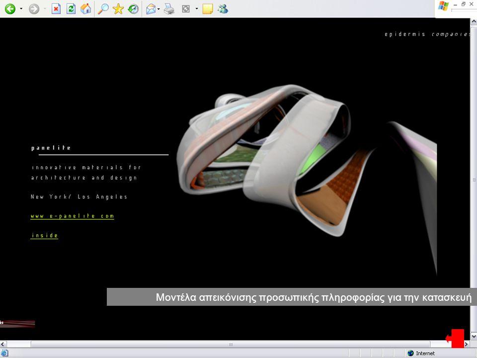 Μοντέλα απεικόνισης προσωπικής πληροφορίας για την κατασκευή
