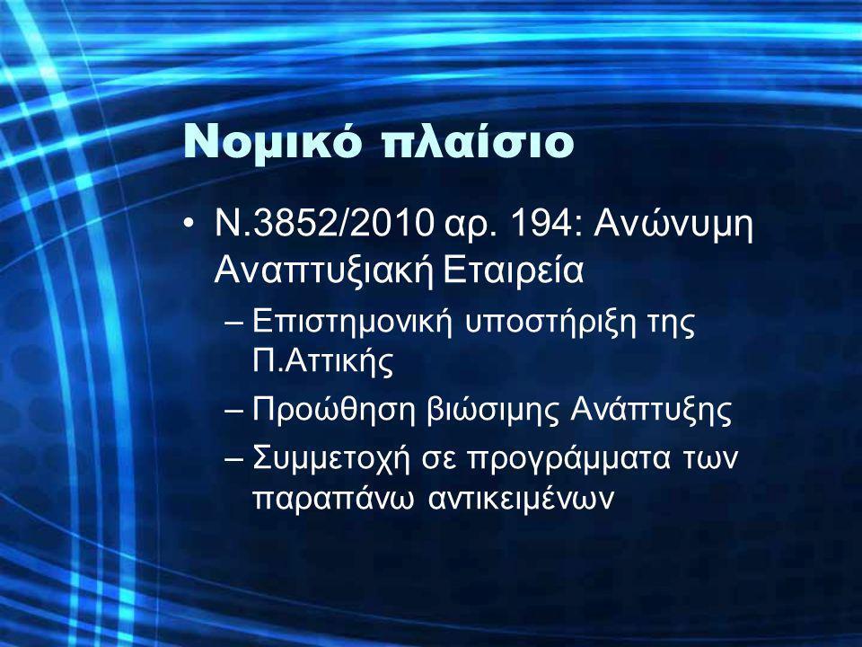 Νομικό πλαίσιο •Ν.3852/2010 αρ.