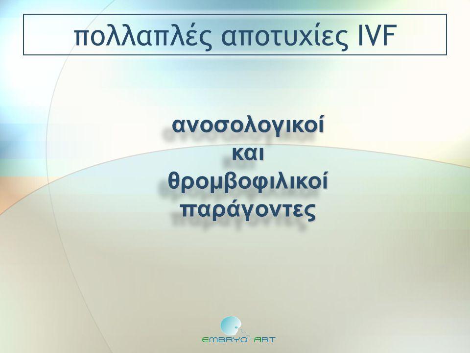πολλαπλές αποτυχίες IVF ανοσολογικοίκαιθρομβοφιλικοίπαράγοντεςανοσολογικοίκαιθρομβοφιλικοίπαράγοντες