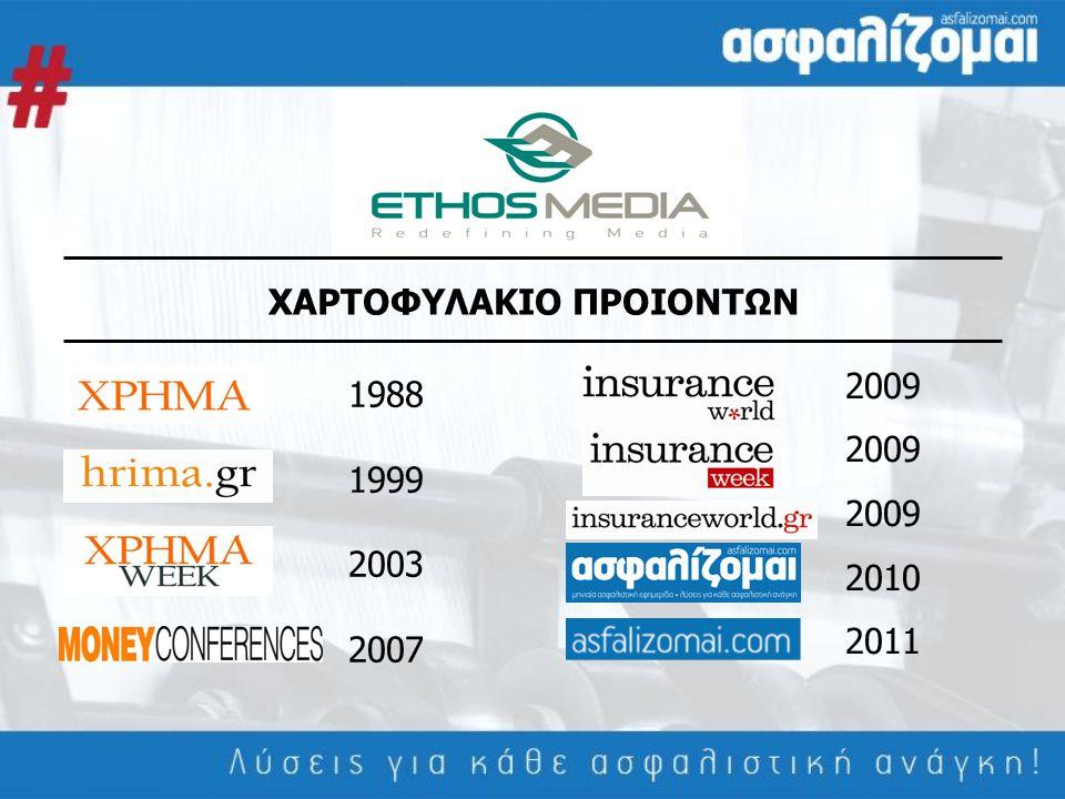 ΧΑΡΤΟΦΥΛΑΚΙΟ ΠΡΟΙΟΝΤΩΝ 1988 1999 2003 2007 2009 2010 2011